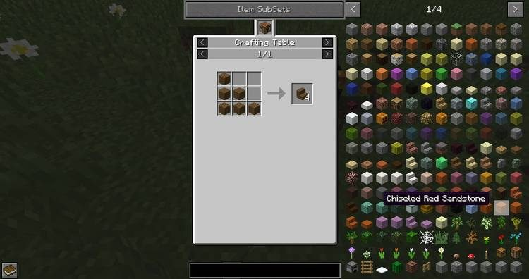 Just Enough Items Mod for Minecraft Recipe