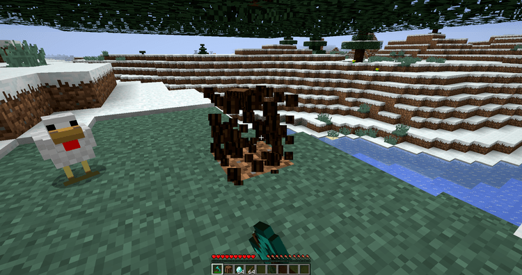 Whole Tree Axe Mod for Minecraft 2
