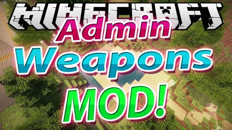 Admin Weapons Mod for Minecraft Logo