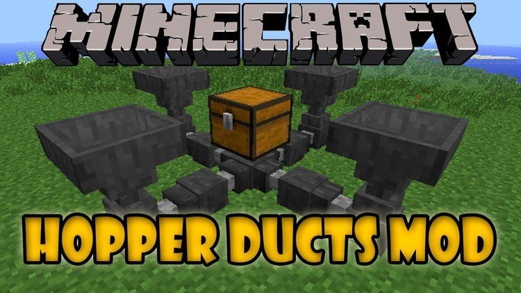 Hopper Ducts Mod for Minecraft Logo