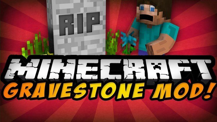 Grave Stone Mod for Minecraft 00