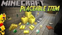 Placeable Items Mod for Minecraft Logo