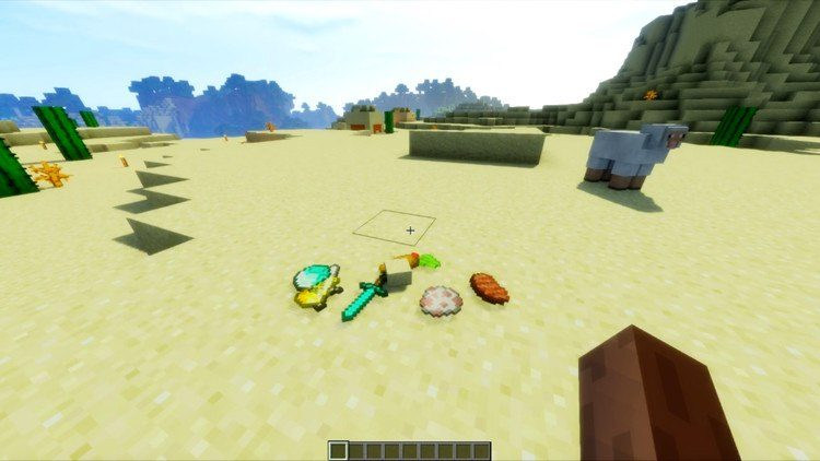 Realistic Item Drops Mod for Minecraft 1