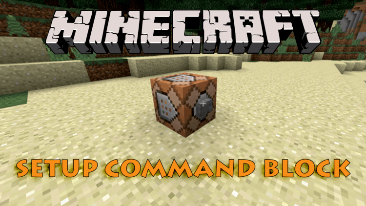 How to use Command Block for Minecraft logo