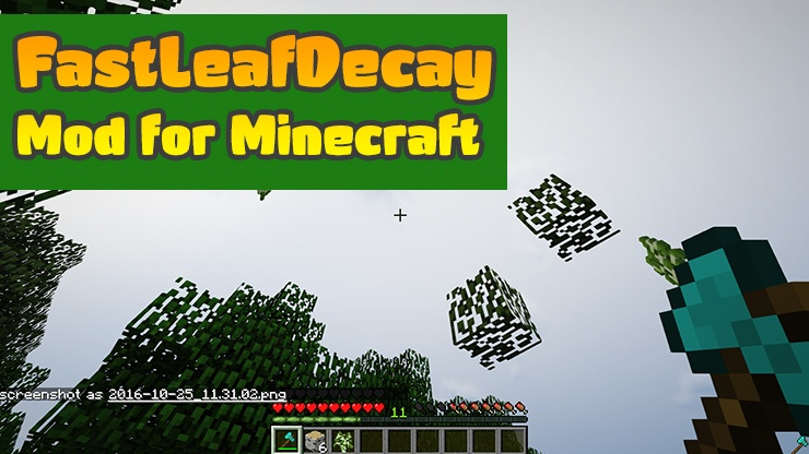 FastLeafDecay Mod for Minecraft Logo