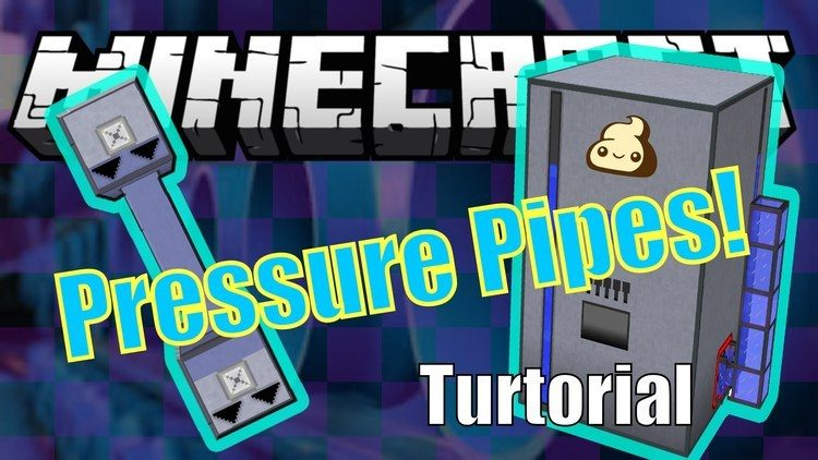 High-Pressure Pipes Mod 1.11/1.10.2 for Minecraft (Unlimited input/output) Logo