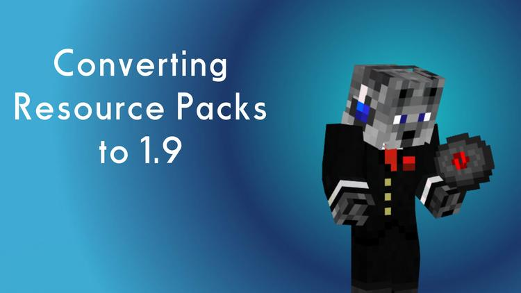 How to Convert a 1.8 Resource pack to 1.10.2 1.11