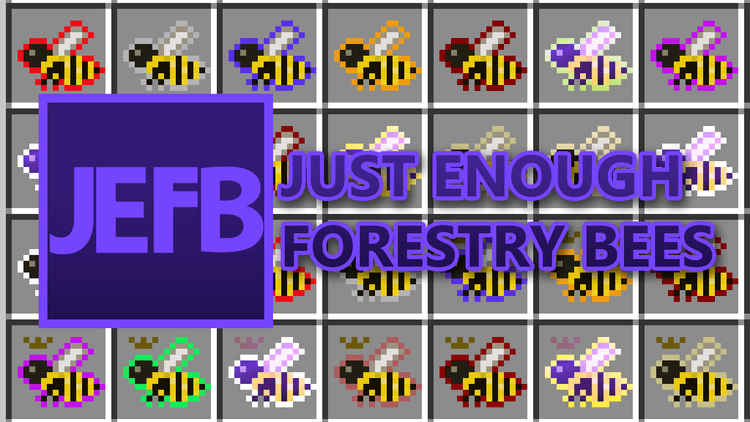 Just Enough Forestry Bees mod for minecraft logo