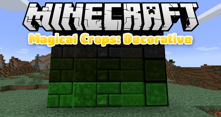 Magical Crops: Decorative mod for minecraft logo