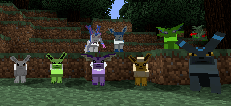 Pokecube mobs mod for minecraft 01