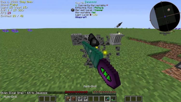Super Multi-Drills mod for minecraft 01