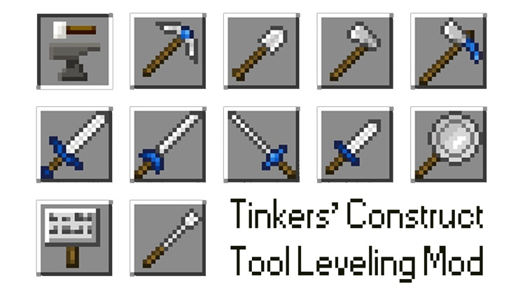 Tinkers' Construct Tool Leveling Mod for Minecraft 1.11/1.10.2 Logo