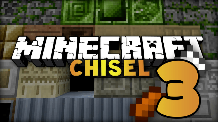 chisel 3 mod for minecraft logo