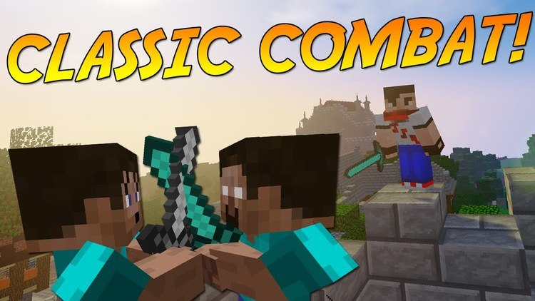 classic combat mod for minecraft logo