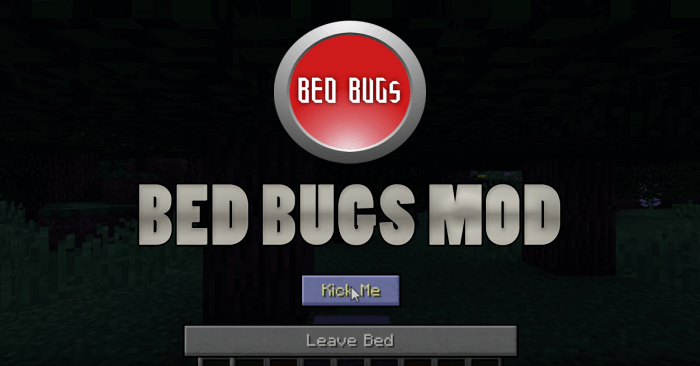 Bed Bugs Mod for Minecraft Logo