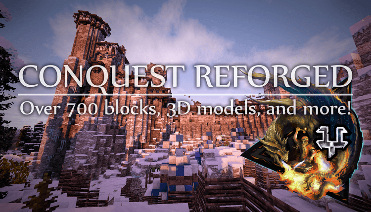 Conquest Reforged mod for minecraft logo