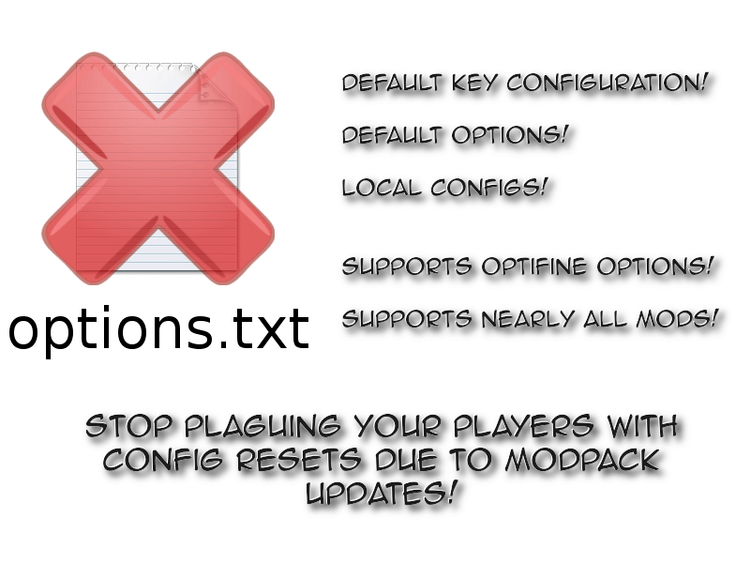 Default Options Mod for Minecraft 1