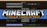 Default Options Mod for Minecraft Logo