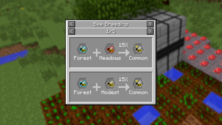 JEI Bees mod for minecraft 01