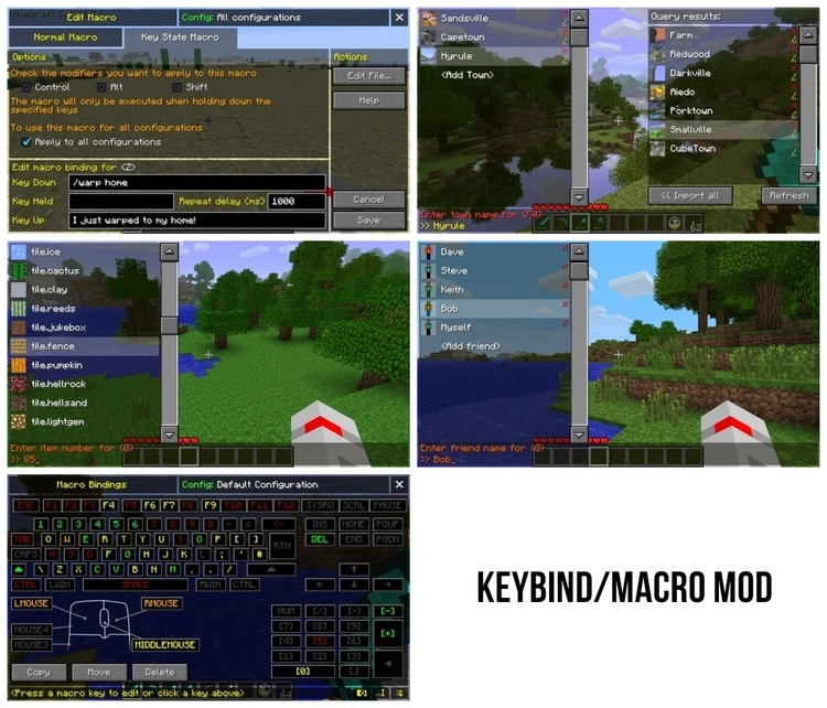 Macro / Keybind Mod for Minecraft 1