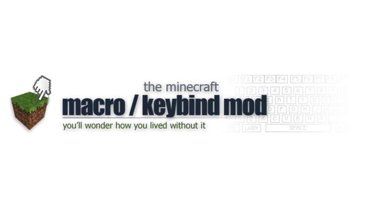 Macro / Keybind Mod for Minecraft Logo