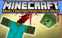 Mob Dismemberment Mod for Minecraft Logo