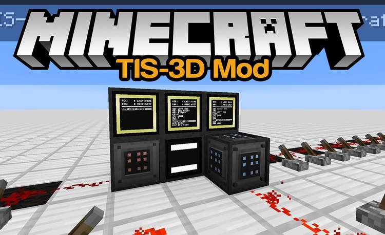 TIS-3D Mod for Minecraft Logo