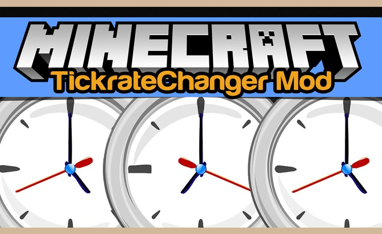 Tickrate Changer Mod for Minecraft Logo