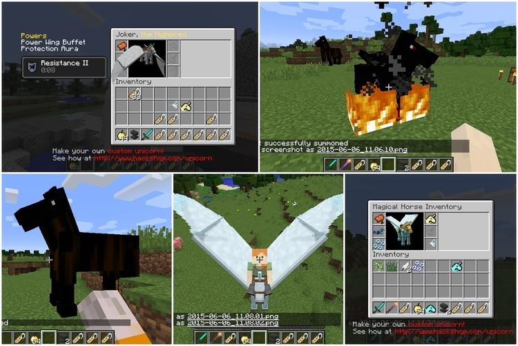 Wings Horns & Hooves, the Ultimate Unicorn Mod for Minecraft 1