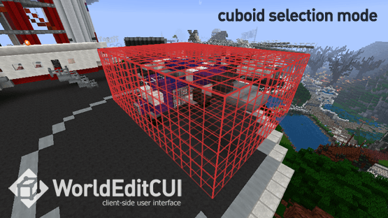 WorldEditCUI Mod 1.11/1.10.2 with Forge for Minecraft 1