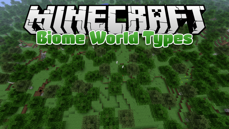 biome world types mod for minecraft logo