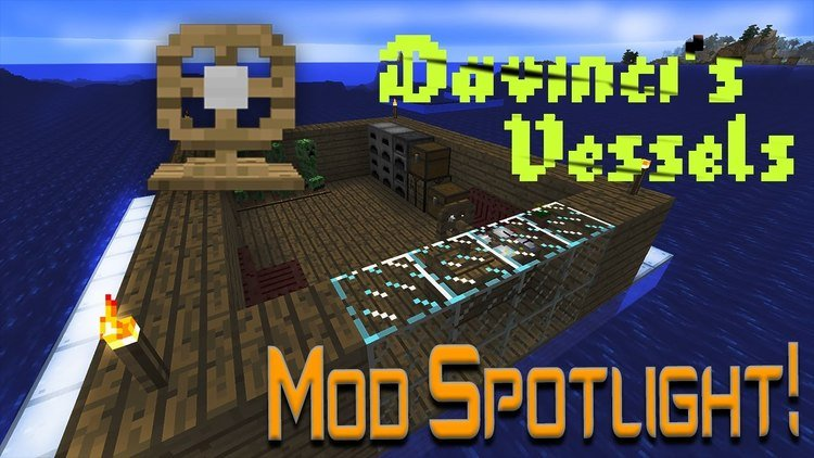 Davinci's Vessels mod for minecraft logo