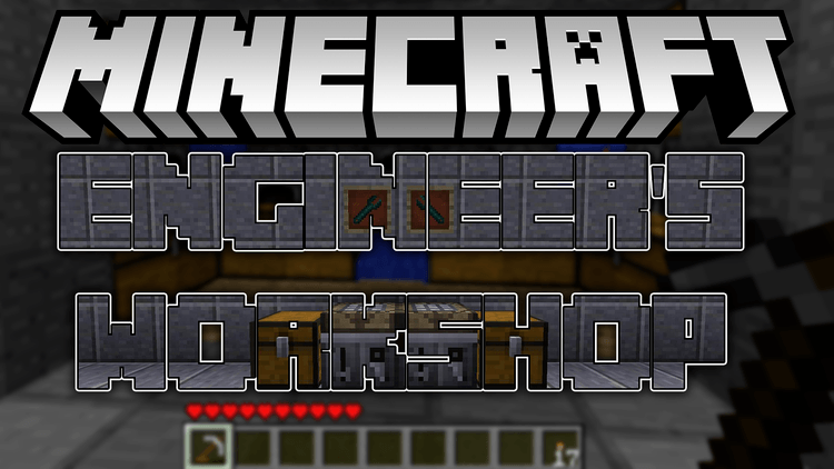 Engineer's workshop mod for minecraft logo