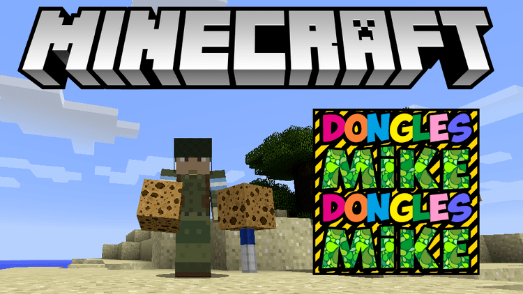 mike dongles mod for minecraft logo
