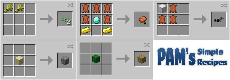 Pam's simple recipes mod for minecraft 03