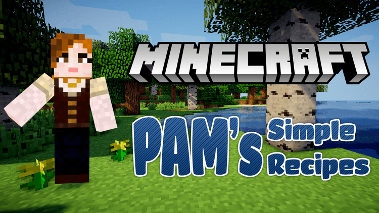 Pam's simple recipes mod for minecraft logo