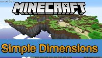 Simple Dimensions Mod for Minecraft Logo