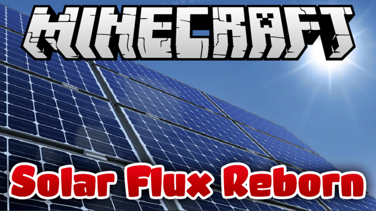 Solar Flux Reborn mod for minecraft logo