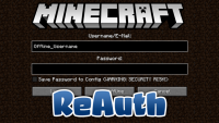 reauth mod for minecraft logo