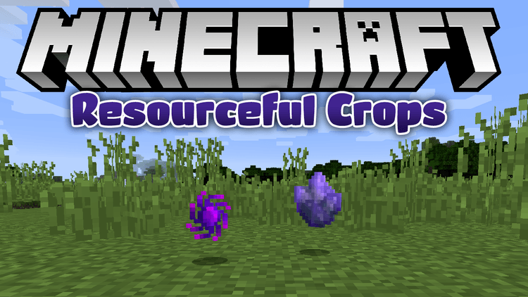 resourceful crops mod for minecraft logo