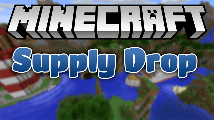 supply drop mod for minecraft logo