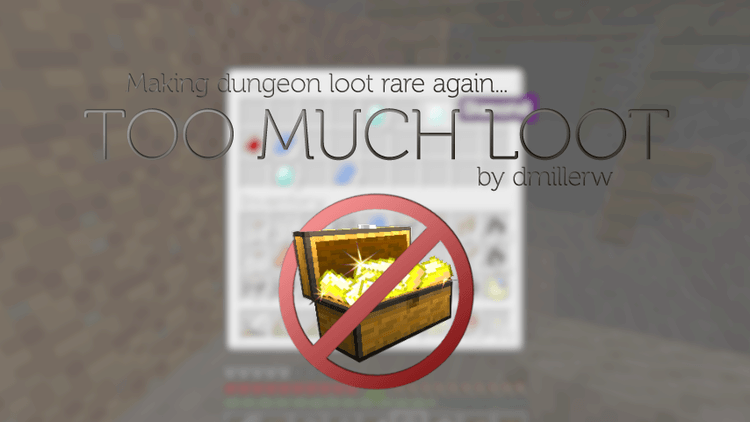Too Much Loot mod for minecraft logo