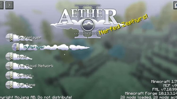Aether 2 Mod for Minecraft (Genesis of the Void) Logo 6