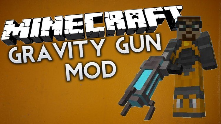 Gravity Gun mod for minecraft logo