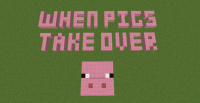 when pig take over map for minecraft logo