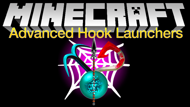 Advanced Hook Launchers mod for minecraft logo