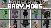 Baby Mobs Mod for Minecraft Logo