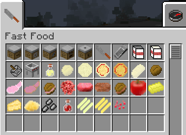 FastFood Mod for minecraft 1