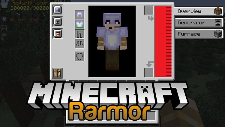 Rarmor Mod for minecraft logo