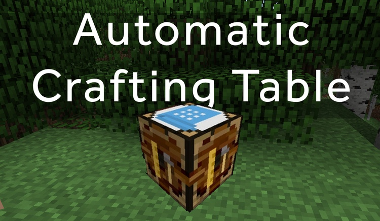automatic crafting table mod for minecraft logo